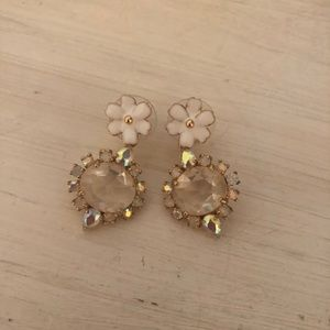 Kate spade flower drop earrings